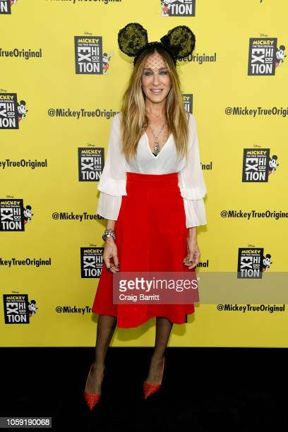 Sarah Jessica Parker attends Mickey The True Original Exhibition reception to commemorate Mickey Mouse's 90th anniversary The 16000 squarefoot...