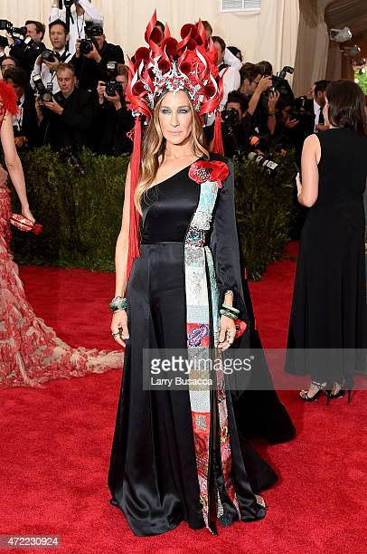 Sarah Jessica Parker attends the China Through The Looking Glass Costume Institute Benefit Gala at the Metropolitan Museum of Art on May 4 2015 in...