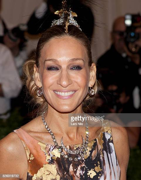 Sarah Jessica Parker attends the Costume Institute Gala for the 'PUNK: Chaos to Couture' exhibition at the Metropolitan Museum of Art in New York...