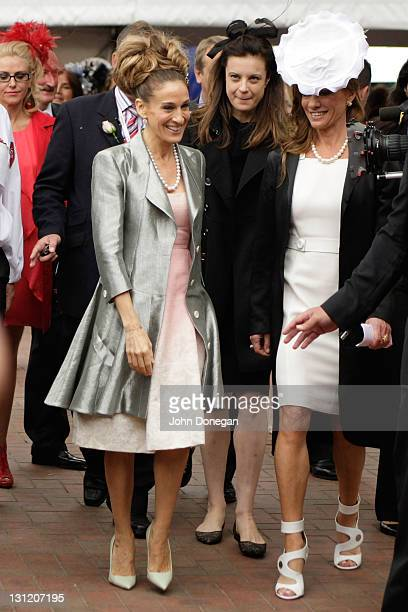 Sarah Jessica Parker attends the Crown marquee during Crown Oaks Day at Flemington Racecourse on November 3, 2011 in Melbourne, Australia.