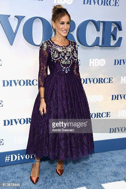 """Sarah Jessica Parker attends the """"Divorce"""" New York Premiere at SVA Theater on October 4, 2016 in New York City."""