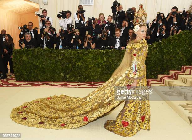 Sarah Jessica Parker attends the Heavenly Bodies Fashion The Catholic Imagination Costume Institute Gala at The Metropolitan Museum of Art on May 7...