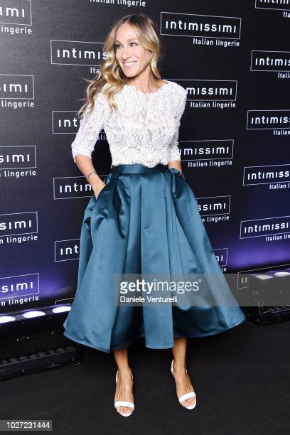 Sarah Jessica Parker attends the Intimissimi Show on September 5, 2018 in Verona, Italy.