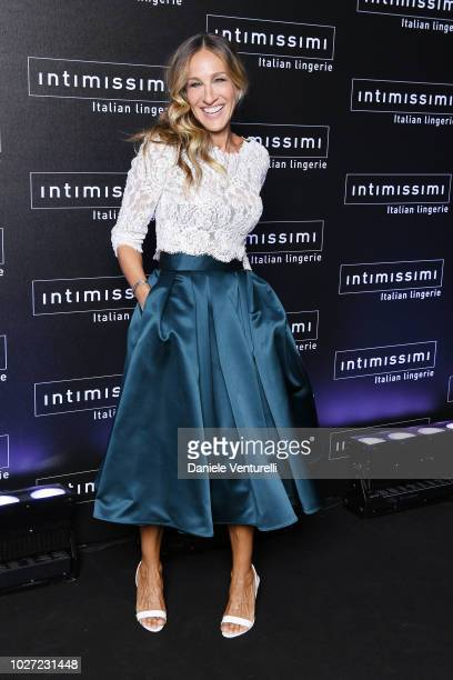 Sarah Jessica Parker attends the Intimissimi Show on September 5 2018 in Verona Italy