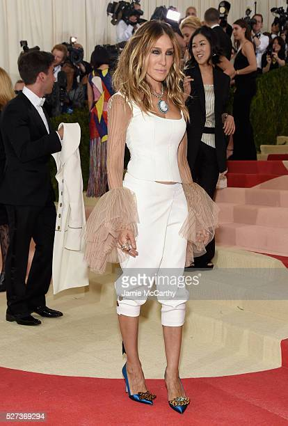 Sarah Jessica Parker attends the 'Manus x Machina Fashion In An Age Of Technology' Costume Institute Gala at Metropolitan Museum of Art on May 2 2016...