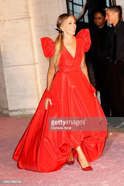 Sarah Jessica Parker attends the New York City Ballet 2018 Fall Fashion Gala at David H Koch Theater at Lincoln Center on September 27 2018 in New...