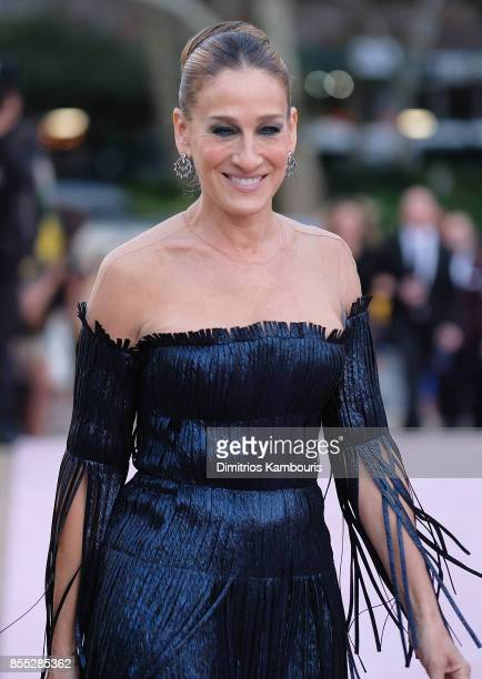 Sarah Jessica Parker attends the New York City Ballet's 2017 Fall Fashion Gala at David H Koch Theater at Lincoln Center on September 28 2017 in New...