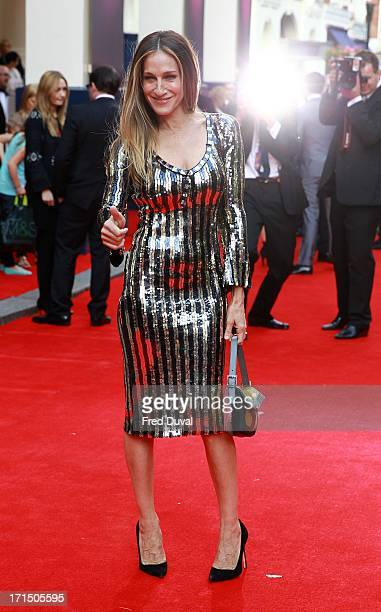 Sarah Jessica Parker attends the opening night for 'Charlie And The Chocolate Factory' at Theatre Royal on June 25 2013 in London England