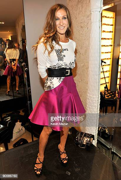 Sarah Jessica Parker attends the Oscar de la Renta Fashion's Night Out party at the Oscar de la Renta Boutique on September 10 2009 in New York City