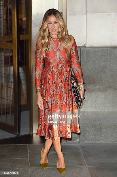 Sarah Jessica Parker attends the SJP Stash Launch Party at Cafe Royal on September 13 2016 in London England
