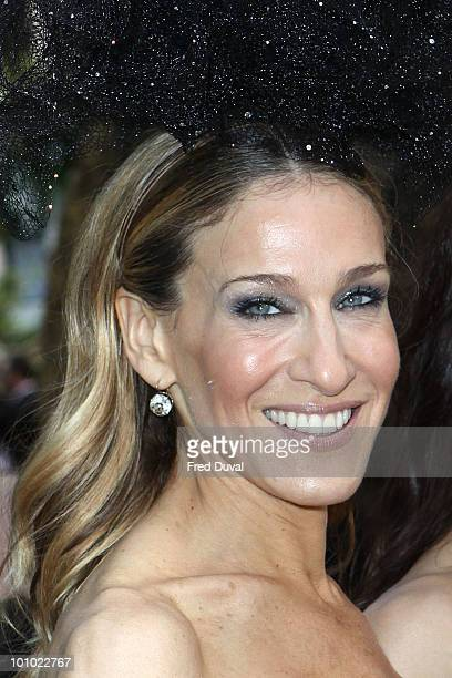 Sarah Jessica Parker attends the UK premiere of 'Sex and the City 2' at Odeon Leicester Square on May 27 2010 in London England