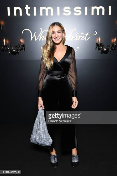 Sarah Jessica Parker attends the White Cabaret La Premiére Intimissimi Show on October 29 2019 in Verona Italy