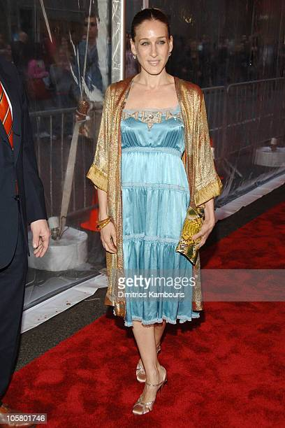 Sarah Jessica Parker during Rent 10th Anniversary Celebration Arrivals at Nederlander Theatre in New York City New York United States