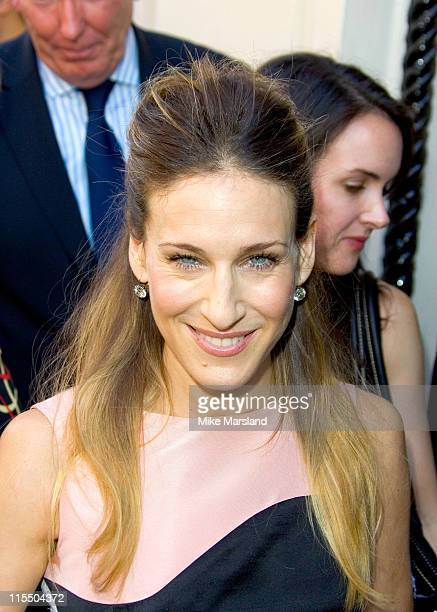 Sarah Jessica Parker during Sarah Jessica Parker Fragrance Launch at Harvey Nichols in London Great Britain