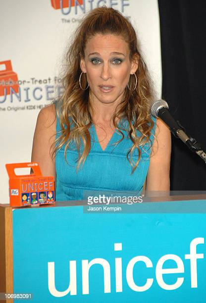 Sarah Jessica Parker during Sarah Jessica Parker Hosts Unicef Halloween Party October 25 2006 at The UNICEF House in New York City New York United...