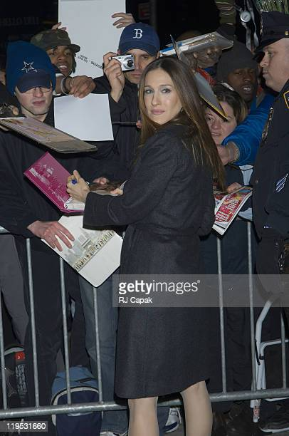 """Sarah Jessica Parker during Sarah Jessica Parker Visits the """"Late Show with David Letterman"""" - March 1, 2006 at Ed Sullivan Theatre in New York City,..."""