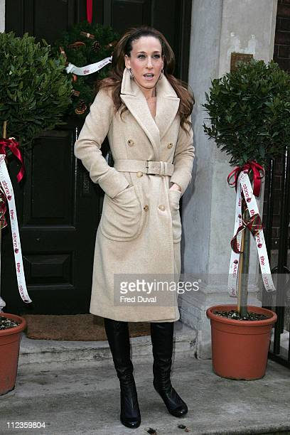Sarah Jessica Parker during 'The Family Stone' London Photocall Arrivals at Dean Street in London Great Britain