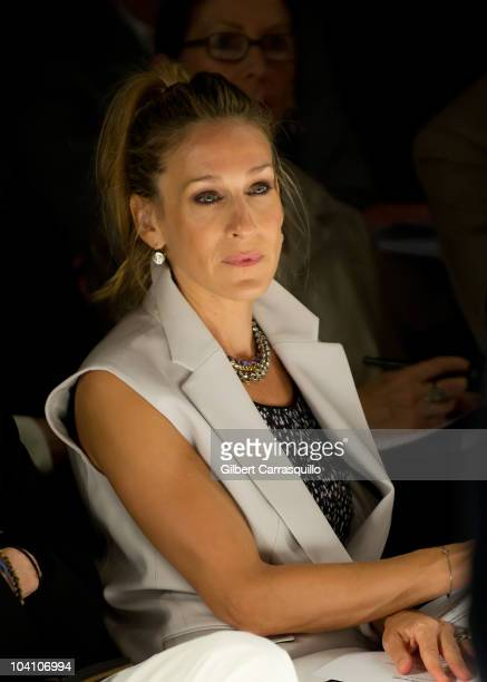 Sarah Jessica Parker during the Narciso Rodriguez Spring 2011 fashion show during Mercedes-Benz Fashion Week at The Theater at Lincoln Center on...