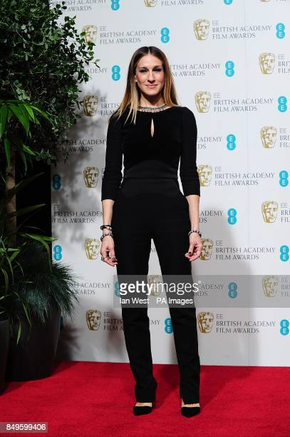 Sarah Jessica Parker in the press room at the 2013 British Academy Film Awards at the Royal Opera House Bow Street London