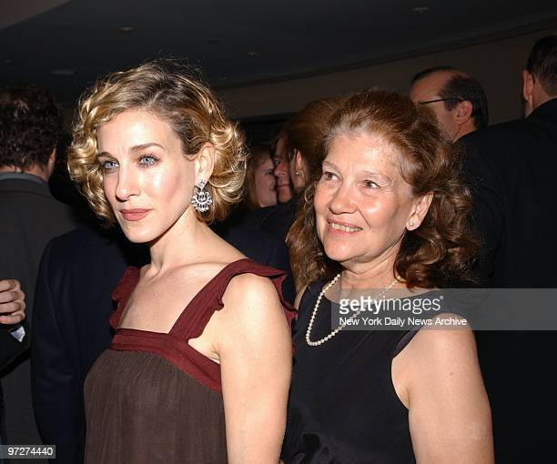 Sarah Jessica Parker is joined by her mother Barbara Parker at the opening night party for the Manhattan Theatre Club's production of The Wonder of...