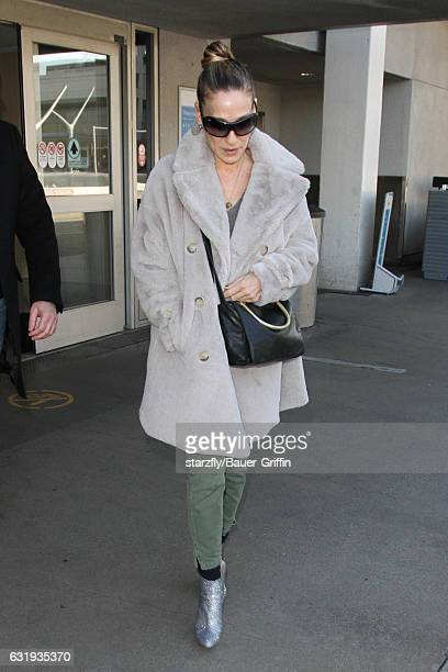 Sarah Jessica Parker is seen at LAX on January 17 2017 in Los Angeles California