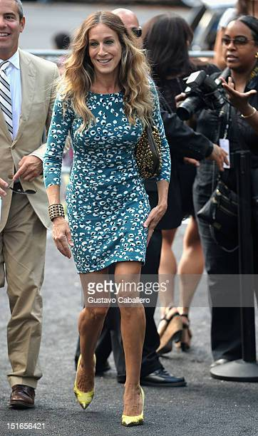 Sarah Jessica Parker is seen at the Lincoln Center for the Performing Arts during MercedesBenz Fashion Week on September 9 2012 in New York City