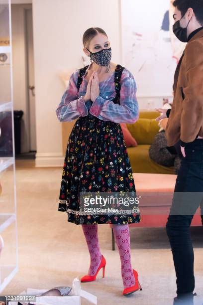Sarah Jessica Parker is seen at the SJP by Sarah Jessica Parker store on February 20, 2021 in New York City.