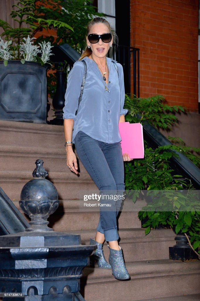 Sarah Jessica Parker is seen in Manhattan on June 13, 2018 in New York City.