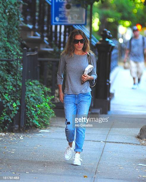 Sarah Jessica Parker is seen in the west village at Streets of Manhattan on September 11 2012 in New York City