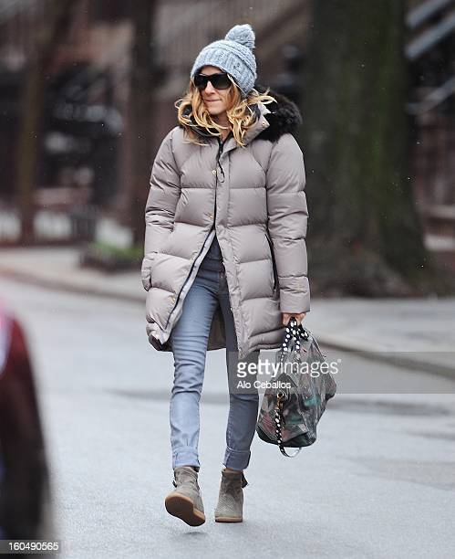 Sarah Jessica Parker is seen in the West Village on February 1 2013 in New York City