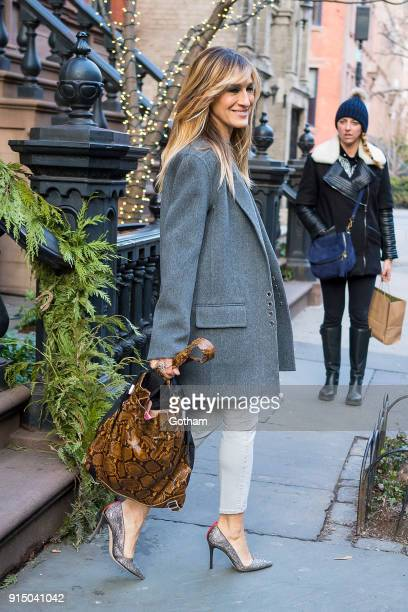 Sarah Jessica Parker is seen in the West Village on February 6 2018 in New York City