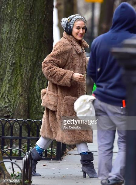 Sarah Jessica Parker is seen in the West Village on March 5 2018 in New York City