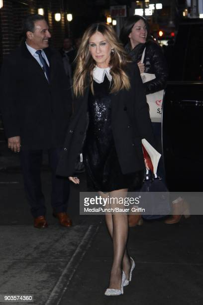 Sarah Jessica Parker is seen on January 10 2018 in New York City