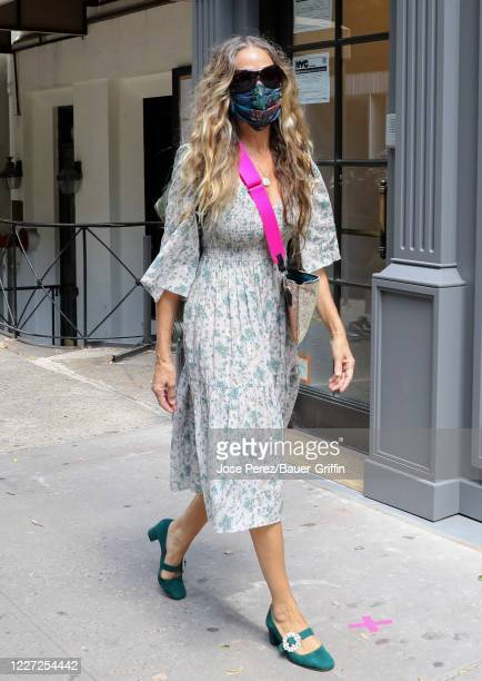 Sarah Jessica Parker is seen on July 15, 2020 in New York City.