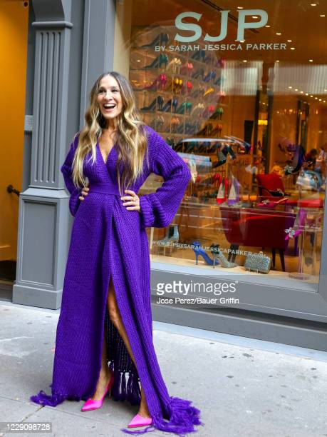 Sarah Jessica Parker is seen on October 15, 2020 in New York City.