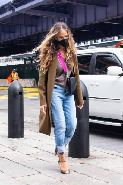 NY: Celebrity Sightings In New York City - April 17, 2021