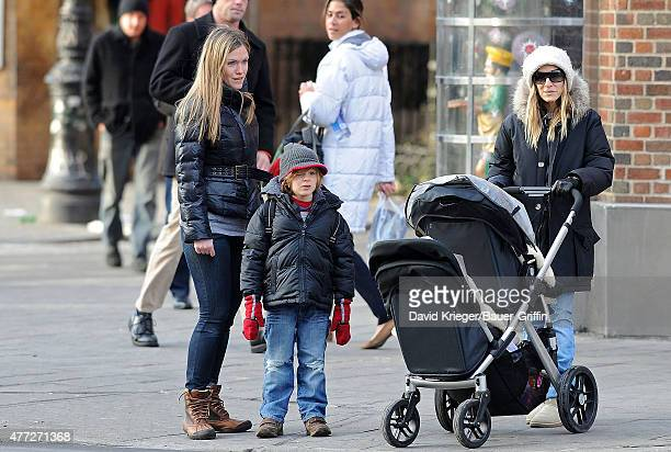 Sarah Jessica Parker is seen walking her son James Wilkie to school along with her twin girls Marion and Tabitha on January 11 2011 in New York City