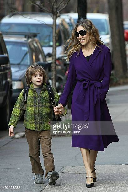Sarah Jessica Parker is seen walking her son James Wilkie to school on March 18 2011 in New York City