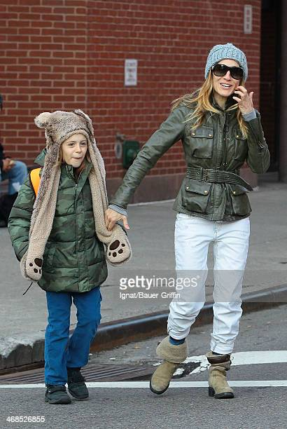 Sarah Jessica Parker is seen with her son James Wilkie Broderick on March 13 2013 in New York City