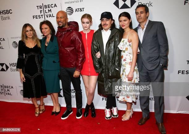 Sarah Jessica Parker Jacqueline Bisset Common Gus Birney Fabien Constant Phillipa Soo and Waleed Zuaiter attend the 2018 Tribeca Film Festival Blue...