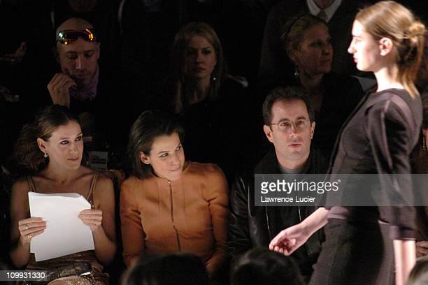 Sarah Jessica Parker, Jessica Seinfeld and Jerry Seinfeld