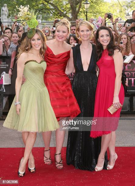 Sarah Jessica Parker Kim Catrall Cynthia Nixon and Kristin Davis attend the Sex And The City world premiere held at the Odeon Leicester Square on May...
