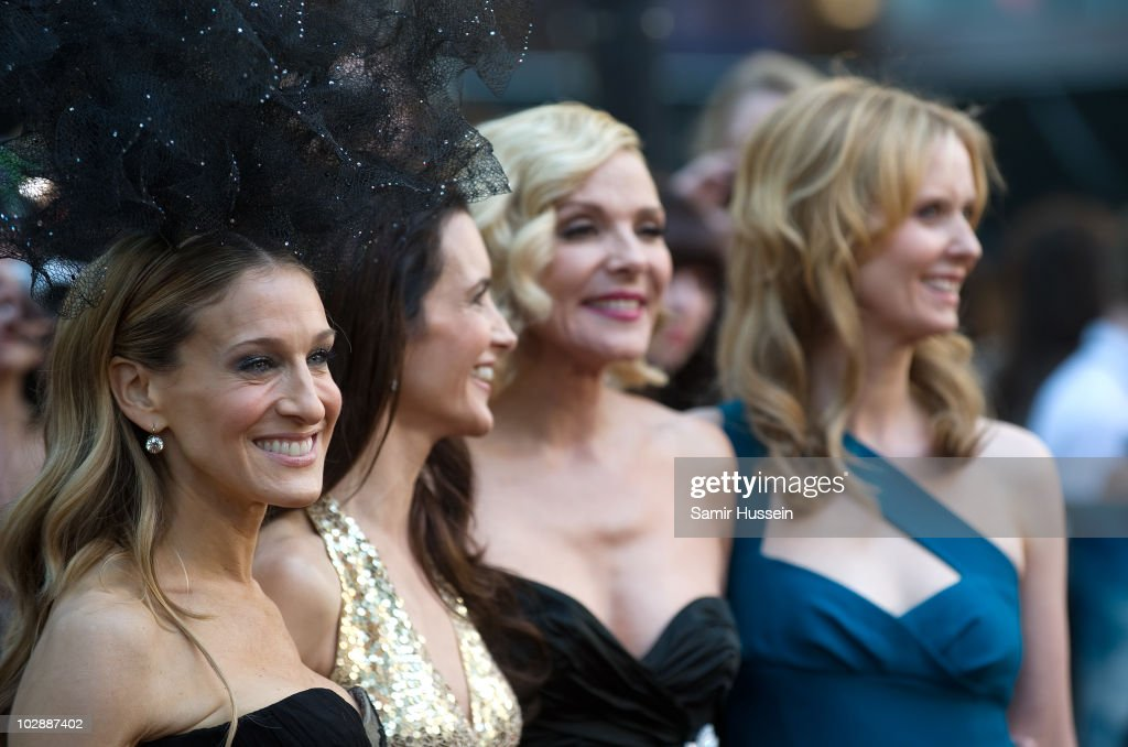 Sarah Jessica Parker, Kristin Davis, Kim Catrall and Cynthia Nixon the UK premiere of 'Sex and the City 2' at Odeon Leicester Square on May 27, 2010 in London, England.