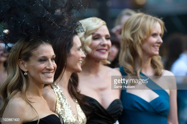 Sarah Jessica Parker Kristin Davis Kim Catrall and Cynthia Nixon the UK premiere of 'Sex and the City 2' at Odeon Leicester Square on May 27 2010 in...