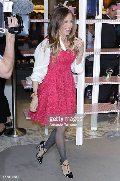 Sarah Jessica Parker makes an appearance to launch her shoe line SJP at Nordstrom Aventura Mall on March 8 2014 in Aventura Florida