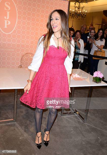 Sarah Jessica Parker makes an appearance to launch her shoe line 'SJP' at Nordstrom Aventura Mall on March 8 2014 in Aventura Florida