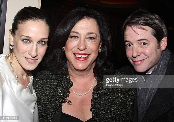 Sarah Jessica Parker Manhattan Theater Club's Artistic Director Lynne Meadow and Matthew Broderick attend the opening night of 'The American Plan' on...
