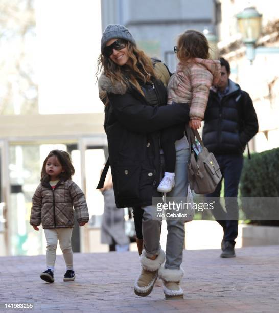 Sarah Jessica Parker Marion Loretta Elwell Broderick and Tabitha Hodge Broderick sighting on March 27 2012 in New York City