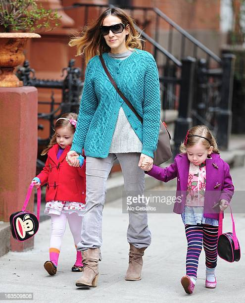 Sarah Jessica Parker Marion Loretta Elwell Broderick and Tabitha Hodge Broderick are seen in the West Village on March 11 2013 in New York City