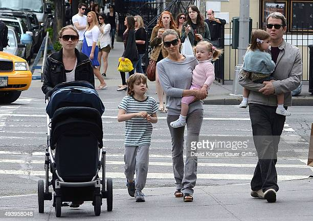 Sarah Jessica Parker, Matthew Broderick and their children Marion Loretta Elwell, Tabitha Hodge and James Wilkie are seen on May 07, 2011 in New York...